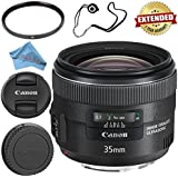 Canon EF 35mm f/2 IS USM Lens 5178B002 + 67mm UV Filter + Fibercloth + Lens Capkeeper Bundle