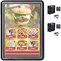 The Display Shield 50-60 Vertical Outdoor Display Enclosure with 2 Fans