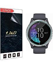 J&D Compatibel voor Garmin Venu (43mm) Screenprotector (Geen Glas), 3-Pack Volledige Dekking Zachte Huid HD Clear Schermbeschermer voor Garmin Venu (43mm) Screen Protector