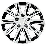 """Pilot Automotive WH547-16S-B Silver 16"""" Premier Wheel Cover, (Set of 4)"""