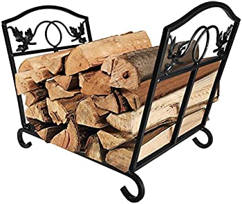 Amagabeli Fireplace Wrought Iron Log Holder