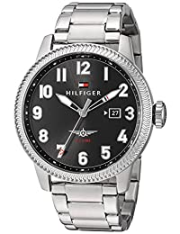 Tommy Hilfiger Men's 'Jasper' Quartz Stainless Steel Automatic Watch, Color: Silver-Toned (Model: 1791312)