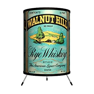 "Lamp-In-A-Box TRI-VLB-WALNU Vintage Labels - Walnut Hill Tripod Lamp, 14"" x 8"" x 8"""