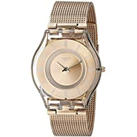 Swatch Women's SFP115M Skin Rose Gold-Tone Watch with Mesh Band
