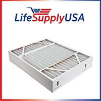 MERV 8 Air Filter 20 x 25 X 5 fits Lennox X1152 Trion Air Bear 453000-001 Supreme 2000 455602-111 447380-002 by LifeSupplyUSA
