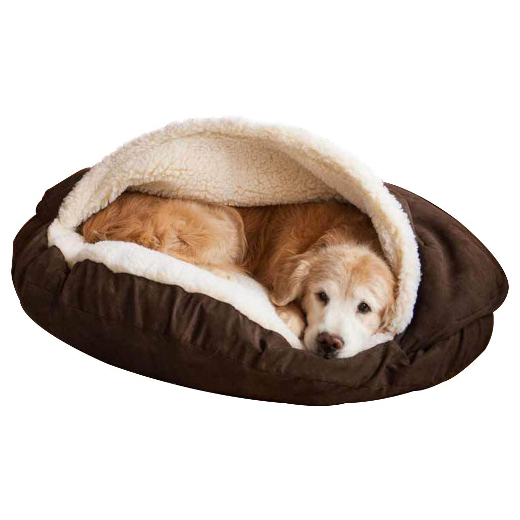 Brown Medium Brown Medium Pet Bed, Soft and Warm Pet Cave, Cat and Dog Universal, Large, Medium, Grey (color   BROWN, Size   M)