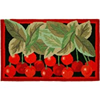 Bright Red Life is a Bowl of Cherries Jellybean Accent Area Rug