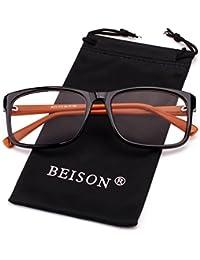 Womens Mens Wayfarer Glasses Frame Nerd Eyeglasses Clear...