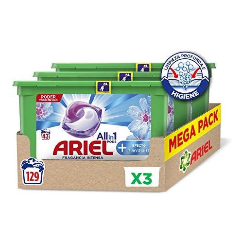chollos oferta descuentos barato Ariel Allin1 Pods Suavizante Detergente en cápsulas para la lavadora efecto suavizante 129 lavados 3 x 43
