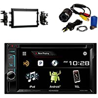 kenwood DDX574BH DVD Receiver with Metra 95-5812 Double DIN Installation Kit for Select 2004-up Ford Vehicles and PYLE PLCM22IR Flush Mount Rear View Camera with 0.5 Lux Night Vision
