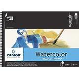 Canson C100511060 15 in. x 20 in. Cold Press Wire Bound Watercolor Pad 140lb-300g