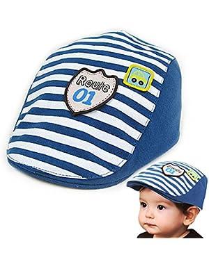 Kids Beret, Baby Paris Boy's Retro Little Style Stripes Hat Toddler Driver Caps, Toddlers Children Cotton hat