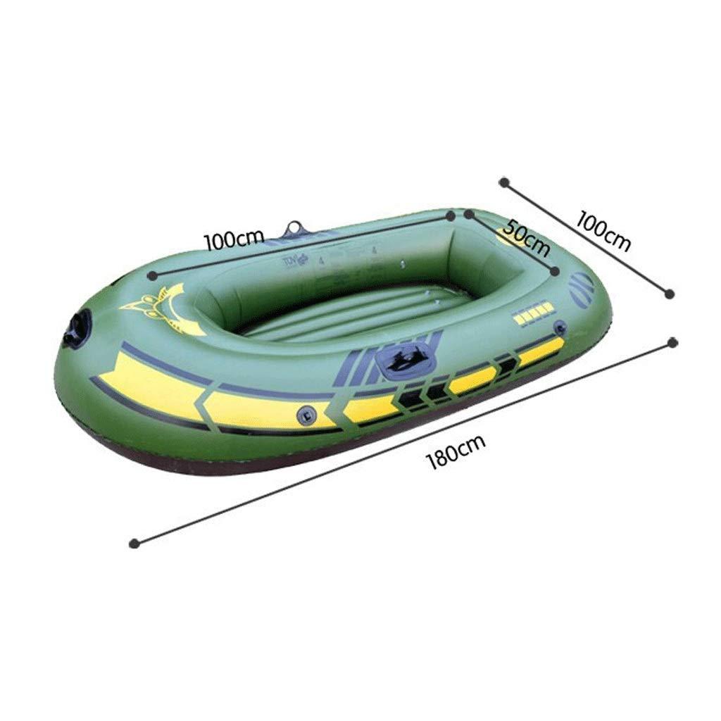 膨脹可能なボートは空気ポンプ+パルプが付いているゴム製ボートの余暇の折りたたみボートを厚くしました