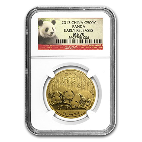 - 2013 CN China 1 oz Gold Panda MS-70 NGC (ER) 1 OZ MS-70 NGC