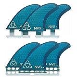 Naked Viking Surf Medium JL Thruster Surfboard Fins (Set of 3) Blue, Futures Base