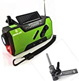 BROLAR Solar Crank NOAA Weather Radio For Emergency, with 2000mAh Power Bank, Flashlight and Reading Lamp + BONUS Survival Fire Starter