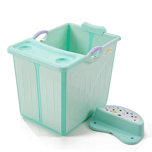 Bañera Plegable de 0-12 años de los niños con el Taburete ...