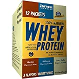 Jarrow Formulas Whey Protein, Supports Muscle Development, 3 Flavor Variety Pack, 12 Count
