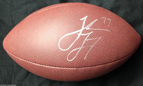 JAKE LONG SIGNED NFL FOOTBALL ST LOUIS RAMS MICHIGAN WOLVERINES DOLPHINS COA J2