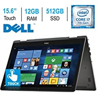 2017 Newest Dell Inspiron 7000 15.6 Convertible 2-in-1 Touchscreen FHD (1920 x 1080) Laptop PC | Intel Core i7-7500U | 12GB DDR4 RAM | 512GB SSD | Bluetooth | Backlit keyboard | HDMI | Windows 10