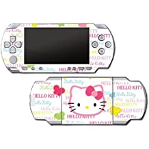 Hello Kitty Rainbow Pink Butterflies Cute Face Video Game Vinyl Decal Skin Sticker Cover for Sony PSP Playstation Portable Original Fat 1000 Series System