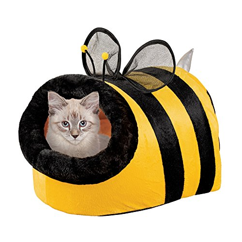Collections Etc Cute Bumble Bee Enclosed Pet Bed, Cat, Dog Review