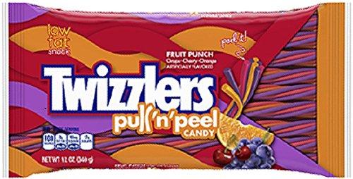Hershey's, Twizzlers, Pull'n'Peel, (Grape, Cherry, Orange Flavors) Fruit Punch, 12oz