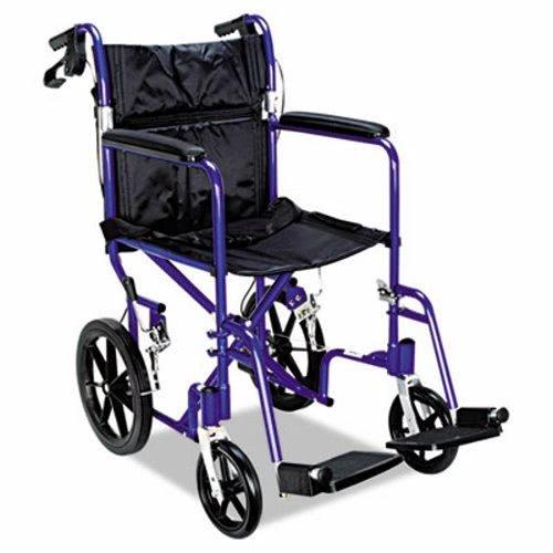 (Medline Deluxe Transport Chair - 300 lb Load Capacity)
