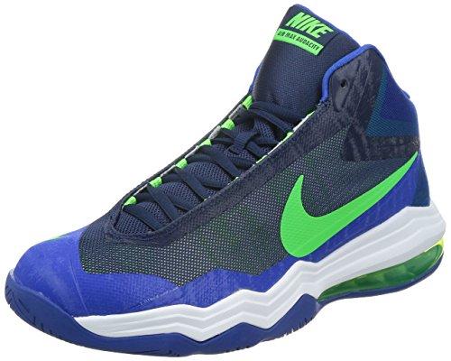 Nike Mens Air Max Audacity Basketbalschoenen 14 M Us Mid Navy / Green Strk-gym Royal-white