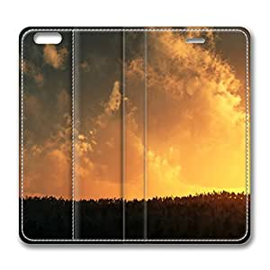 Burn Sky iPhone 6 Plus 5.5inch Leather Case, Personalized Protective Slim Fit Skin Cover For Iphone 6 Plus [Stand Feature] Flip Case Cover for New iPhone 6 Plus
