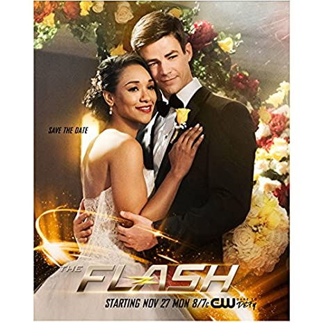 The Flash Candice Patton As Iris And Grant Gustin As Barry Wedding