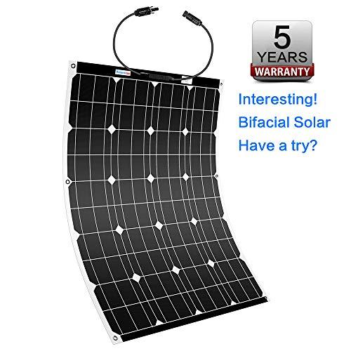 Winnewsun Flexible Solar Panel Bifacial Flexible Solar Panel 100W New