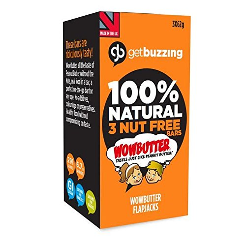 Getbuzzing Nut Free Wowbutter Flapjacks 3 x - Lakeland Free Delivery