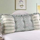 Cotton cushion/korean version big cushion/bedside soft bag pillow/ back/ sofa back cushions-E 200x55cm(79x22inch)