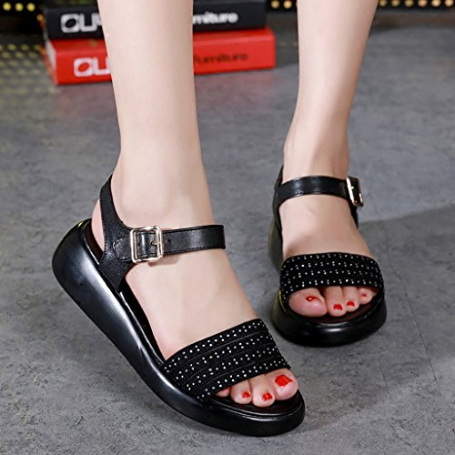Non and EU35 with Summer comfortable 5 slip Black sandals PENGFEI black Flat Shopping sandals Leisure L 225mm Female UK3 student White Size white slippers Color 46x0nPxq