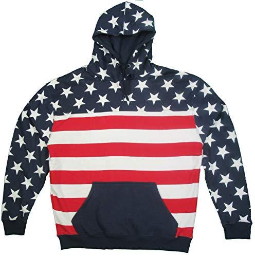 - Exist Unisex Proud American Flag Pullover Hoodie Sweatshirt USW3545 XL