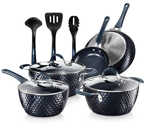 Nutrichef-Nonstick-Cookware-Excilon-Home-Kitchen-Ware-Pots-Pan-Set-with-Saucepan-Frying-Pans-Cooking-Pots-Lids-Utensil-PTFEPFOAPFOS-free-11-Pc-Blue-Diamond