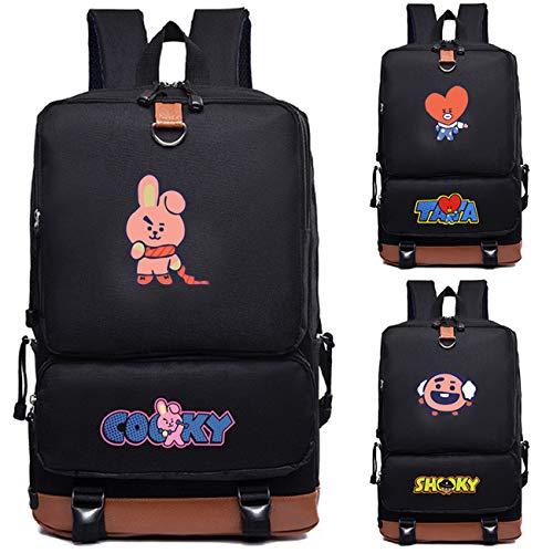 Koya Chimmy Di Rj Boys Tata Sacchetto Daypack For Zigjoy Bt21 Bangtan nero Mang Mang Cooky Fans Ricarica Shooky Scuola Kpop Bts wx0pOa