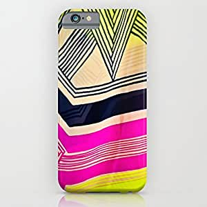 Tostore Art Deco Abstract Print Hot Pink and what not battery cover for iphone 6 with 4.7 inch cases by icecream design