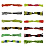 12pcs Fishing Skirt Lures Spinnerbaits Jig Head Lures Replacement Mixed Colors 50 Strands