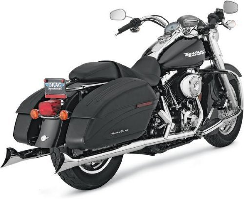 Fishtail Exhaust Tip (Vance and Hines Fishtail 3in. Chrome Slip-On Exhaust for Harley Davidson 1995-2 -)