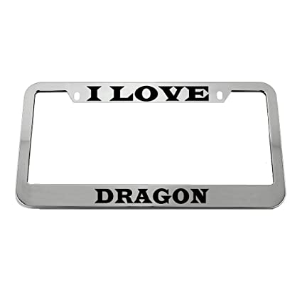 Black License Plate Frame My Other Ride Is A Dragon Auto Accessory Novelty