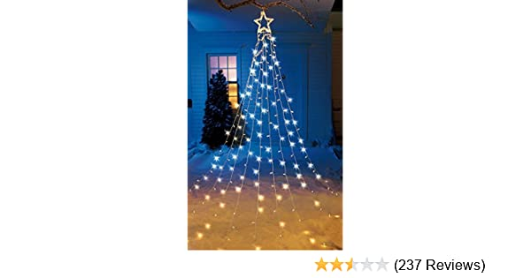 Christmas Tree Illustration.String Light Christmas Tree With Star