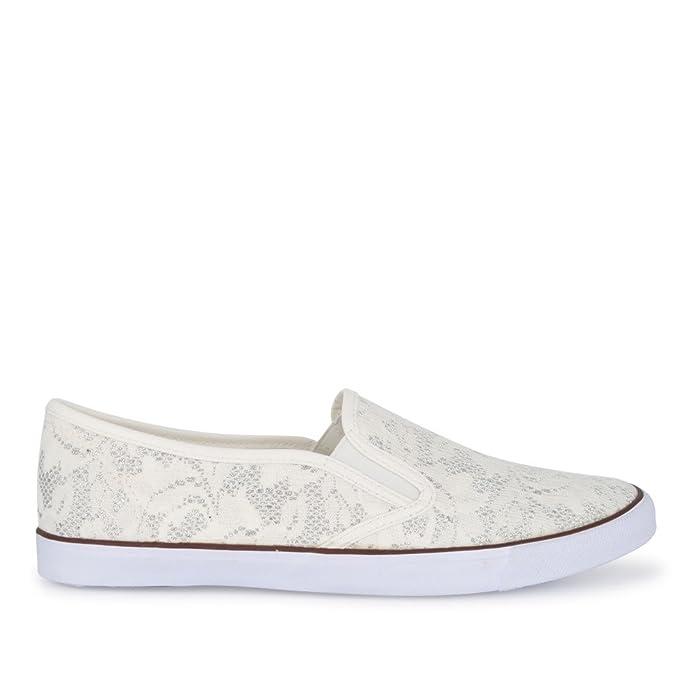 Fitters Sneaker Natalie Weiss / Slip-On, Größe:45