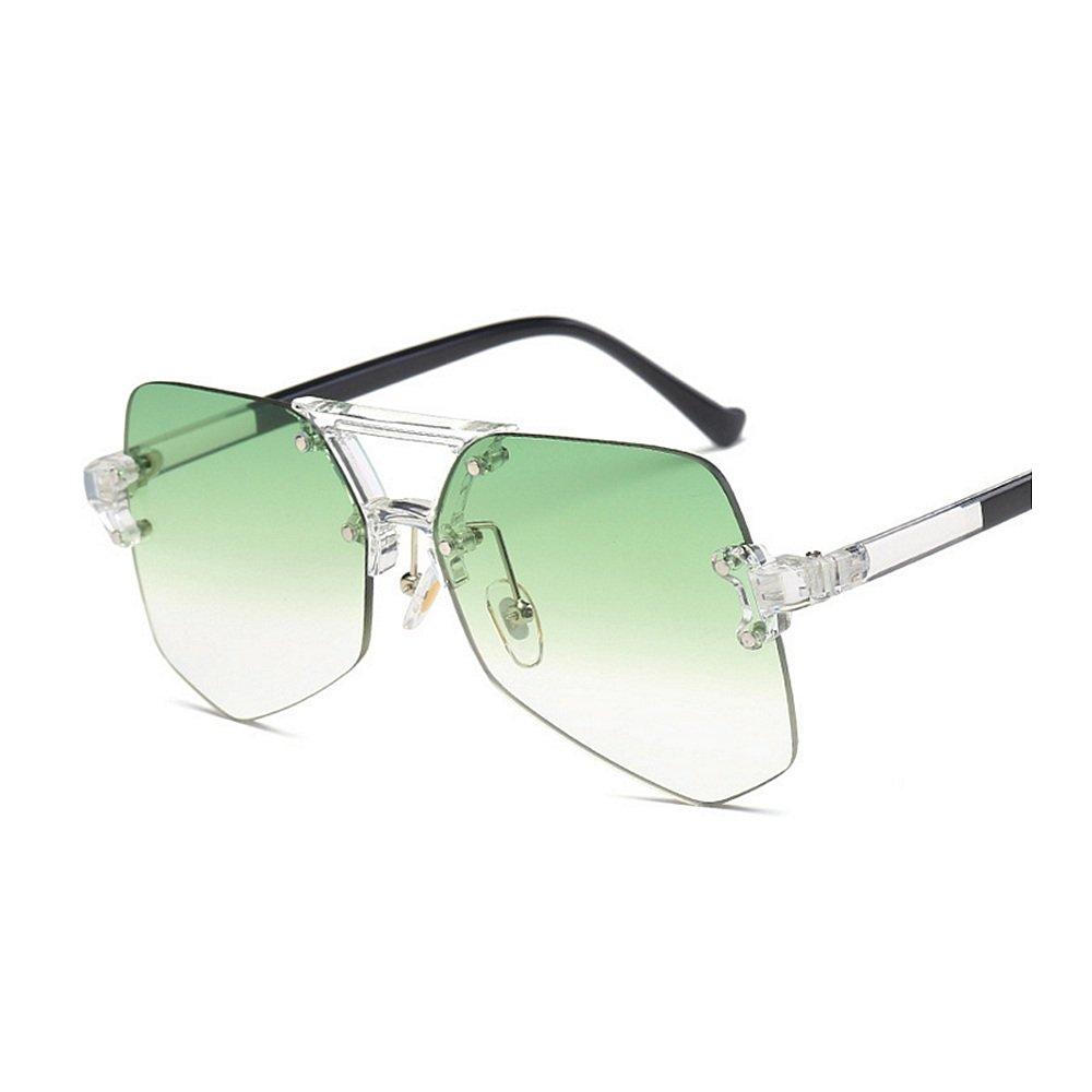 Personalidad UV claro transparente gafas de sol protección sin marco ...