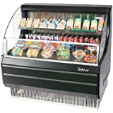 Turbo Air TOM40LB 39 Low Profile Display Merchandiser with Modern Design Attractive Glass Sides Environmental Friendly Refrigeration System Standard Back-Guard and Anti-Rust Coating: