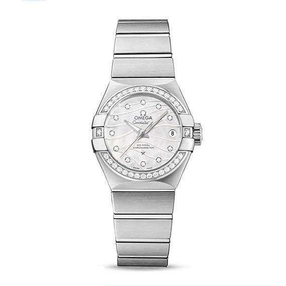Omega Constellation de la mujer diamante 27 mm Reloj automático 123.15.27.20.55.002: Amazon.es: Relojes