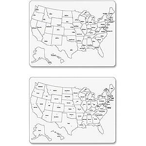Amazoncom CT ChenilleKraft Large USA Map Whiteboard - Us map whiteboard
