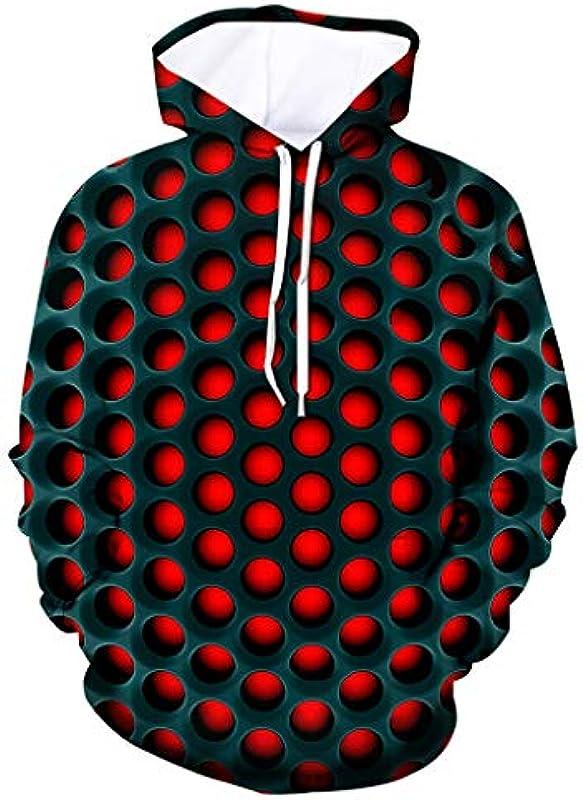 Azruma męska damska unisex 3D nadruk bluza z kapturem sweter z długim rękawem bluza z kapturem kurtka z kieszeniami S-4XL: Odzież