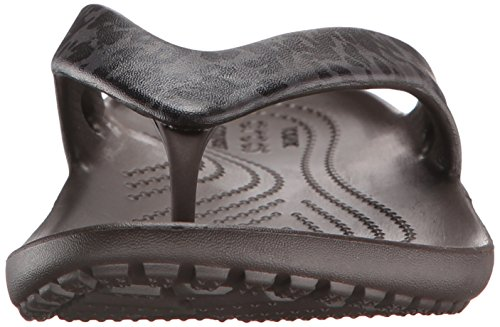 Crocs Kadee II Leopard Print W, Damen Sandalen, Braun (Espresso 206), 41/42 EU